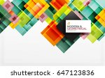 corporate vector business... | Shutterstock .eps vector #647123836