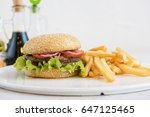 Tasty Classical Burger With...