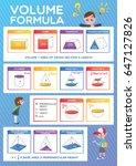vector. school poster with math ... | Shutterstock .eps vector #647127826