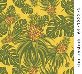 seamless pattern with... | Shutterstock .eps vector #647132275