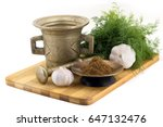 still life spices  indian... | Shutterstock . vector #647132476