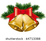 vector christmas bells with... | Shutterstock .eps vector #64713388