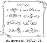 romantic scroll set | Shutterstock .eps vector #64713406
