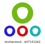 set of shield icon | Shutterstock . vector #647151262