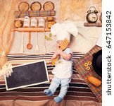 smiling infant baby boy... | Shutterstock . vector #647153842