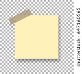 template sticky note with... | Shutterstock .eps vector #647160565