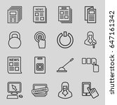 press icons set. set of 16... | Shutterstock .eps vector #647161342
