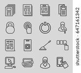 press icons set. set of 16... | Shutterstock .eps vector #647161342