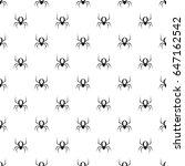 spider pattern seamless in... | Shutterstock . vector #647162542