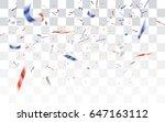 realistic falling defocused... | Shutterstock .eps vector #647163112