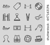 rope icons set. set of 16 rope...   Shutterstock .eps vector #647163196
