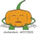 pumpkin man is hungry   Shutterstock .eps vector #647172022