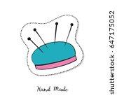 cartoon sticker with pincushion ... | Shutterstock .eps vector #647175052