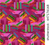 endless abstract pattern.... | Shutterstock .eps vector #647176168