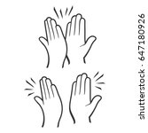 two hands giving a high five... | Shutterstock . vector #647180926