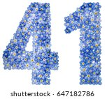 arabic numeral 41  forty one ... | Shutterstock . vector #647182786