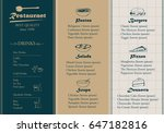 placemat design template vector ... | Shutterstock .eps vector #647182816