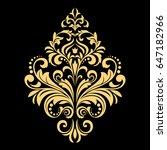 golden vector pattern on a... | Shutterstock .eps vector #647182966