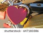 Red Padlock In Shape Of Heart ...