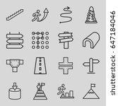 way icons set. set of 16 way...