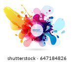 abstract colored flower... | Shutterstock .eps vector #647184826