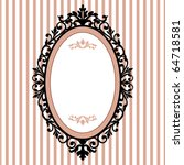 decorative oval vintage frame | Shutterstock .eps vector #64718581