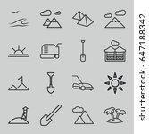landscape icons set. set of 16... | Shutterstock .eps vector #647188342