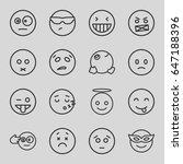 expression icons set. set of 16 ... | Shutterstock .eps vector #647188396