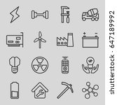 power icons set. set of 16... | Shutterstock .eps vector #647189992