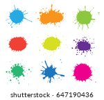 colorful paint splatters.paint... | Shutterstock .eps vector #647190436