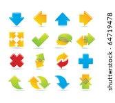 set of arrows   Shutterstock .eps vector #64719478