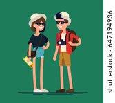 cool vector flat character... | Shutterstock .eps vector #647194936