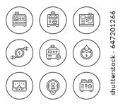 set round line icons of... | Shutterstock .eps vector #647201266