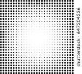abstract dotted vector... | Shutterstock .eps vector #647204236