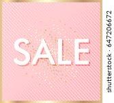 sale banner template  pink... | Shutterstock . vector #647206672