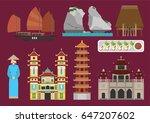 vietnam illustration vector... | Shutterstock .eps vector #647207602
