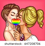 vector pop art illustration of... | Shutterstock .eps vector #647208706