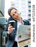 portrait of business woman... | Shutterstock . vector #647215108