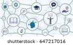 vector illustration of circle... | Shutterstock .eps vector #647217016
