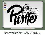 rome  italy. world famous... | Shutterstock .eps vector #647220322