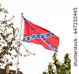 US confederate national flag waving