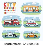 city service and emergence... | Shutterstock .eps vector #647236618