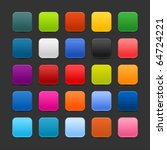 25 colored blank square web 2.0 ... | Shutterstock .eps vector #64724221