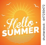 hello summer  | Shutterstock .eps vector #647250472