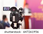 filming an media event with a... | Shutterstock . vector #647261956
