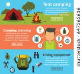 hiking travel banner horizontal ... | Shutterstock .eps vector #647262616