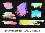 hand drawing brush stroke. set... | Shutterstock .eps vector #647272516