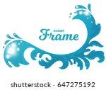 stylized cartoon ocean wave...   Shutterstock .eps vector #647275192