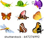 insect icons collection various ... | Shutterstock .eps vector #647276992