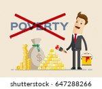 businessman cross out word... | Shutterstock .eps vector #647288266